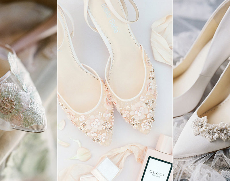 12 Romantic Flower-Inspired Wedding Shoes For Your Secret Garden Wedding