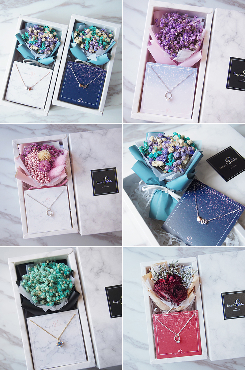 Personalized Jewelry + Flower Curated Gift Sets