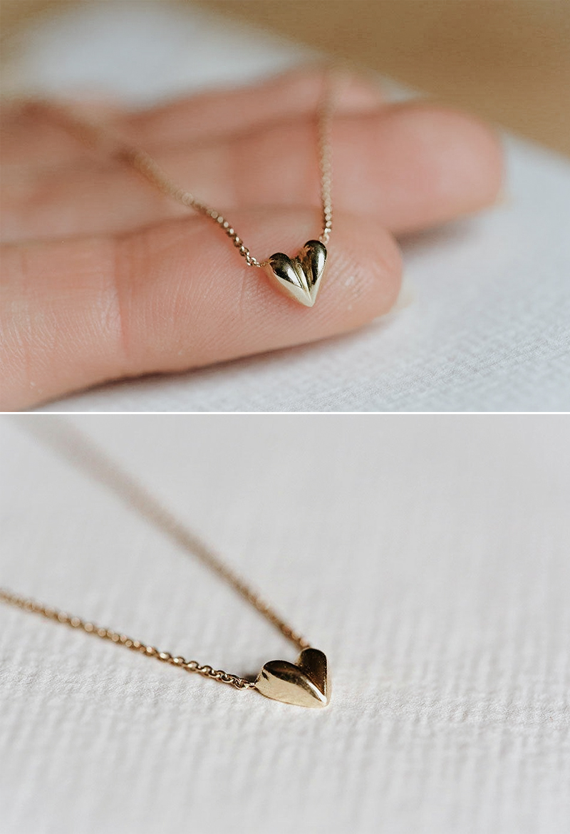 Puffy Heart Choker Necklace