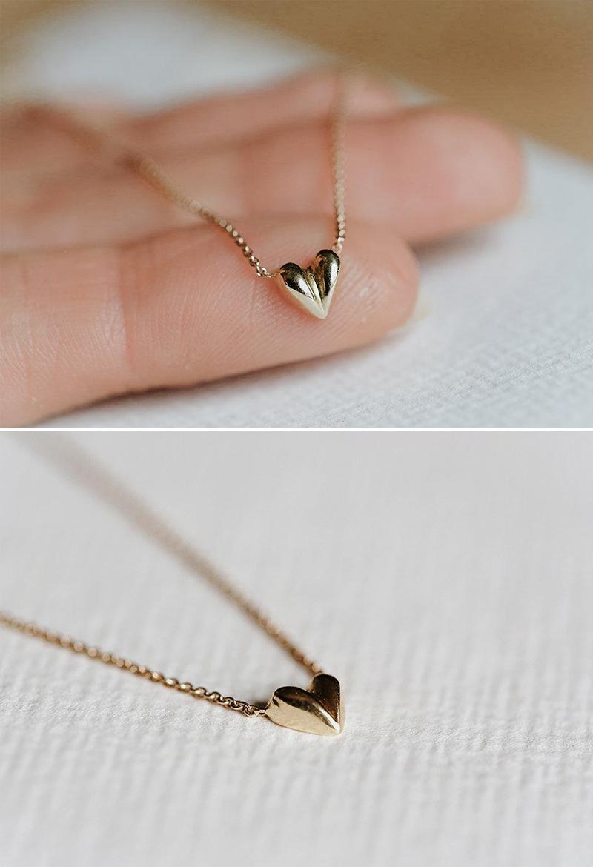 Puffy Heart Choker Necklace