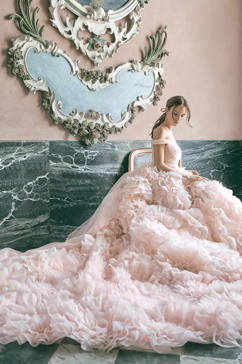 enchanted vintage modern wedding dress