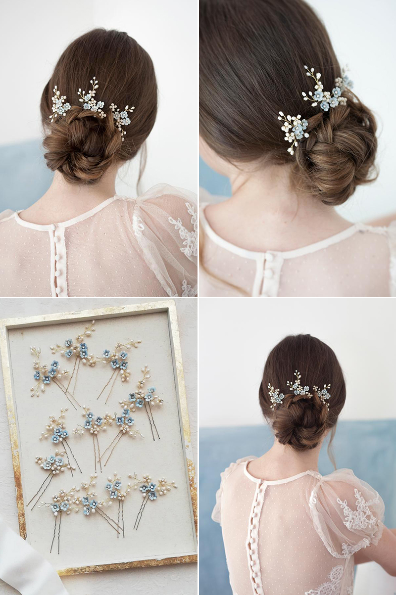 Forget Me Not Hair Pins (set of 3)