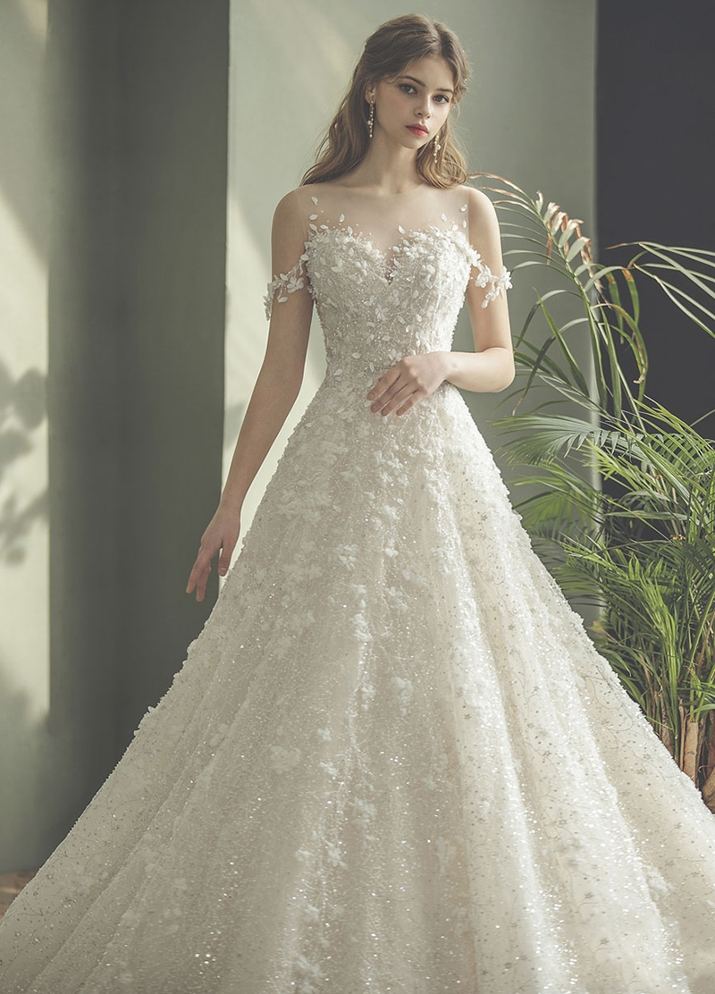 enchanted vintage modern wedding dress