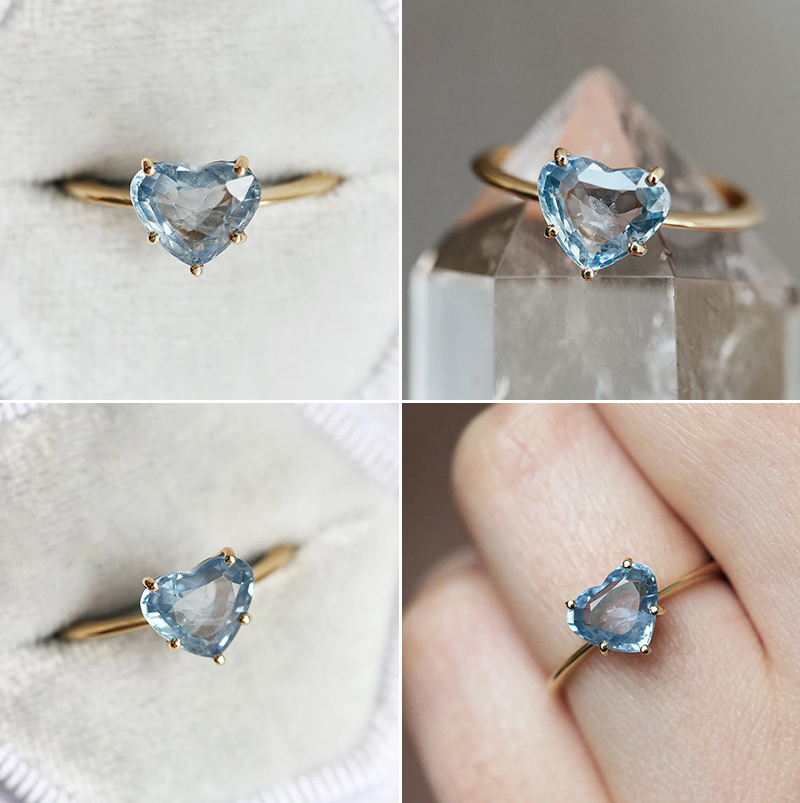 Molly Heart Sapphire Ring