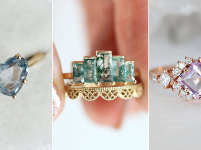 12 Beautiful and Ethical Gemstone Engagement Rings for the Unconventional Bride-to-Be