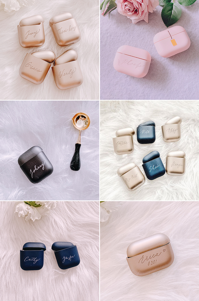 Personalized Calligraphy Matte Airpods Case