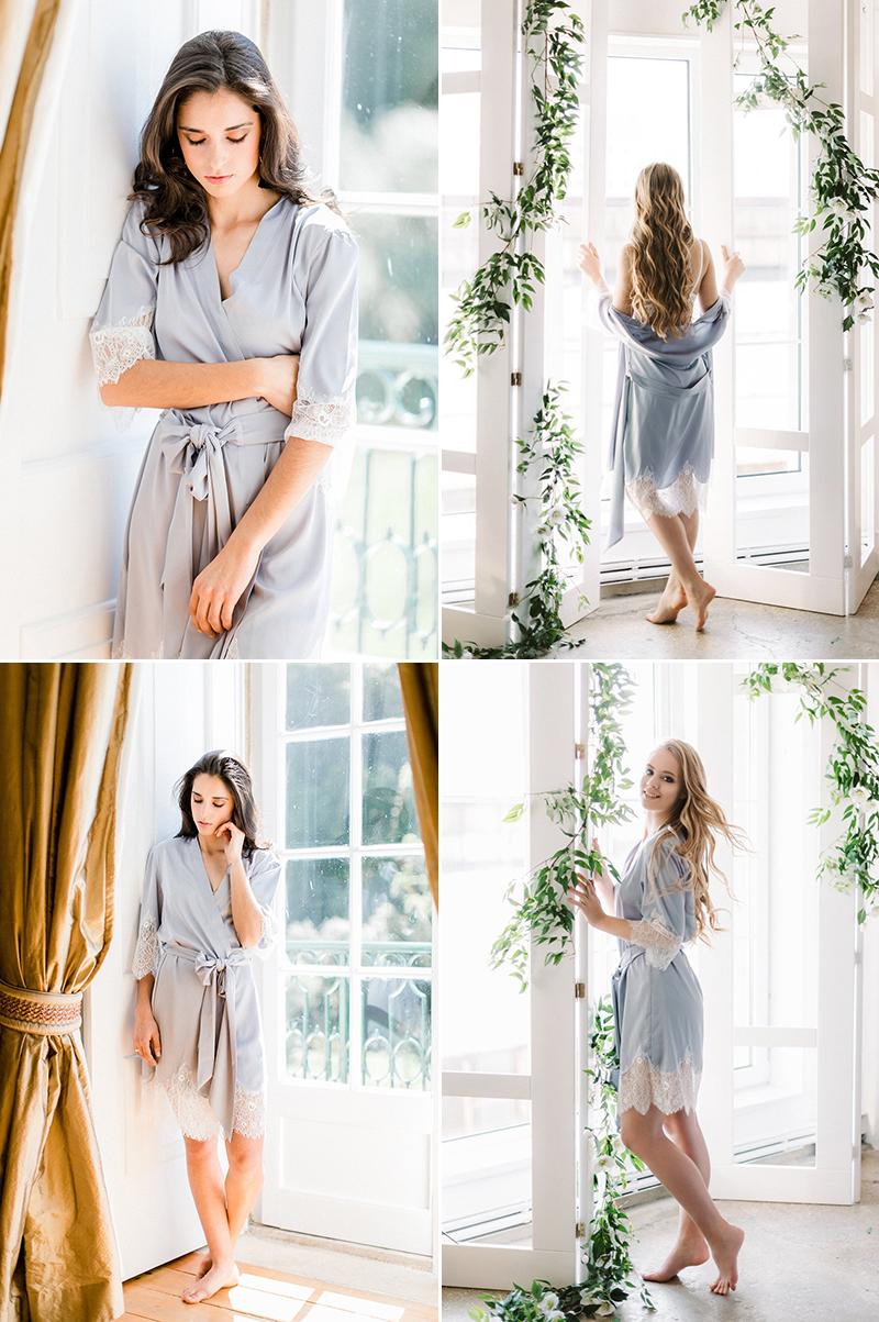 Chantilly Lace Kimono Robe