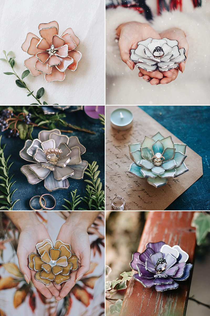 Blooming Flower Jewelry Dishes