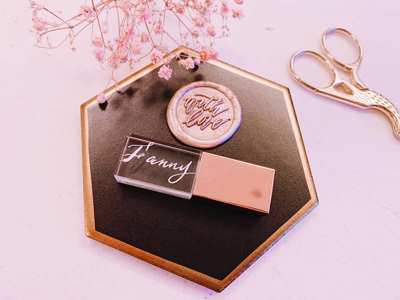 Rose Gold Personalized Artisan USB