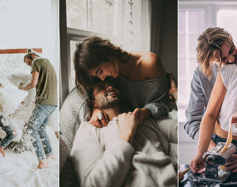 #StayHome For Your Photo Shoot? 10 Romantic At-Home Engagement Photo Ideas From Couples Who Totally Nailed It