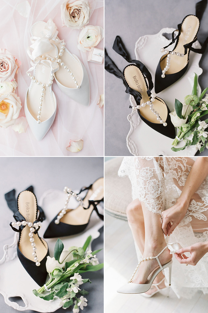 Luminous Pearls Bow Heel