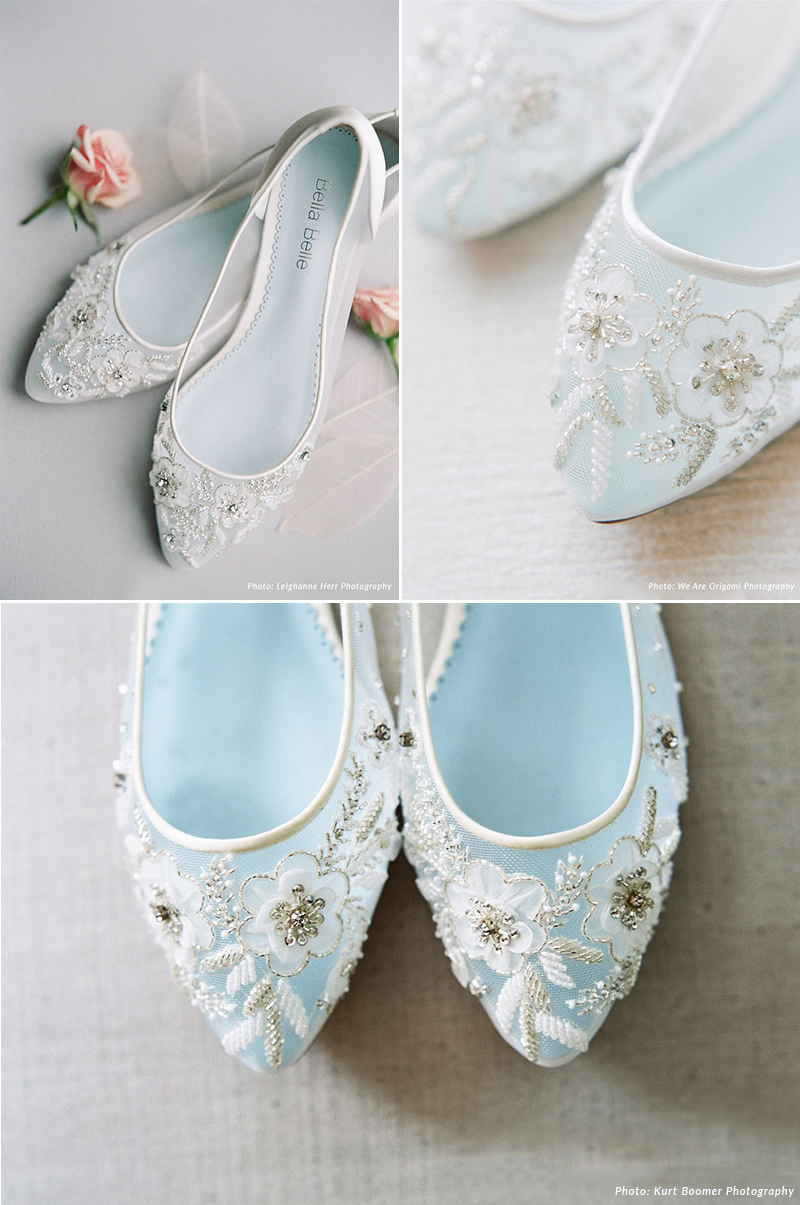 Floral Beaded Flats