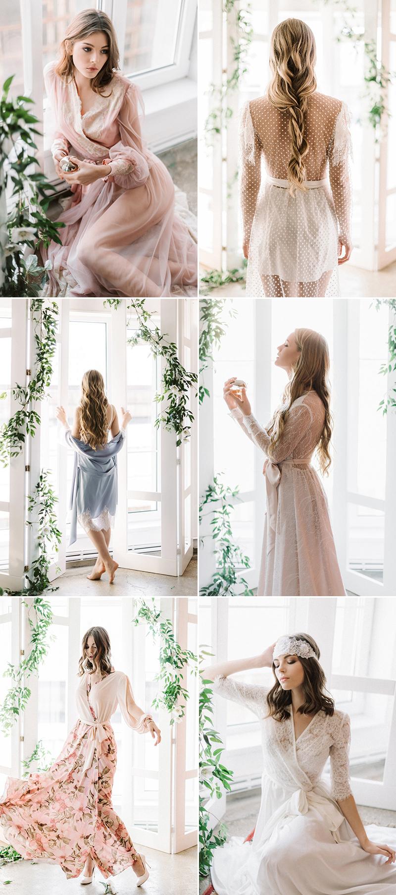 getting ready bridal bridesmaid robes