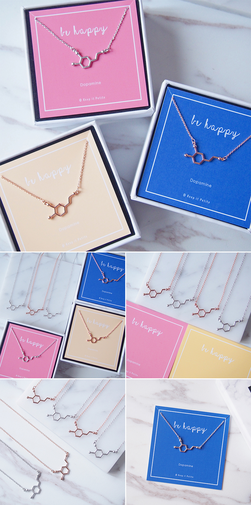 Dopamine Happiness Messenger Necklace