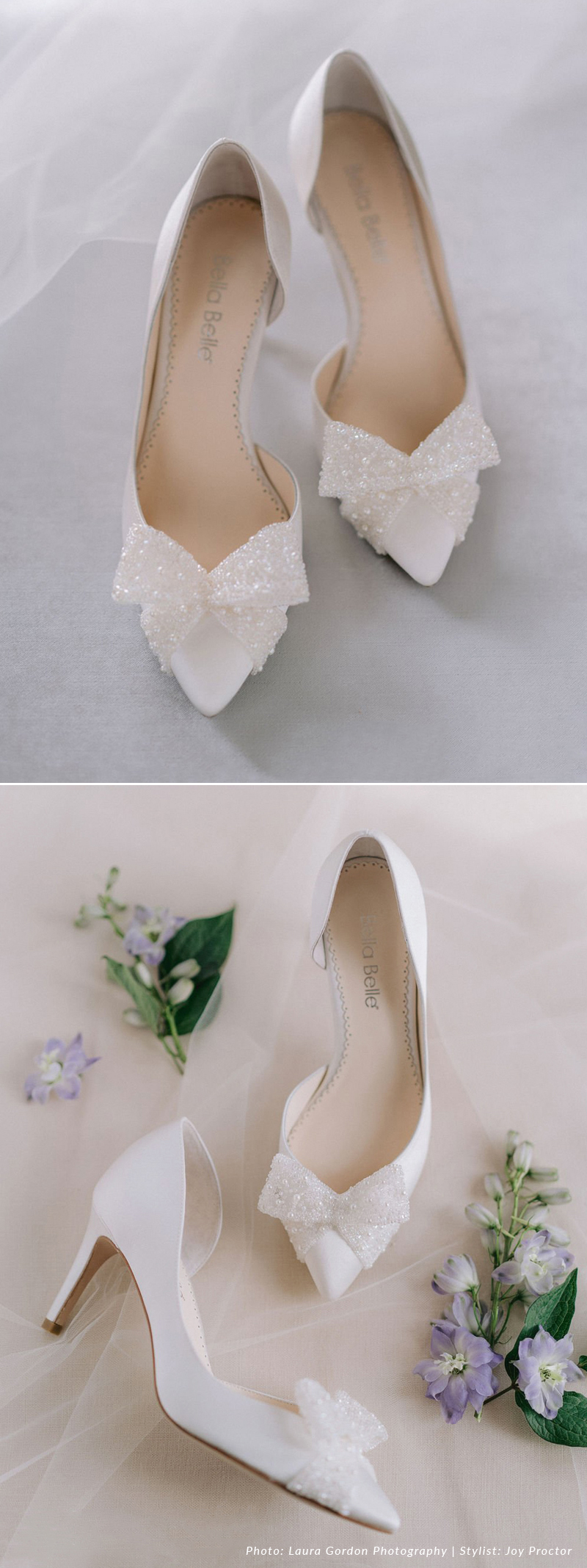 D'Orsay Ivory Pump With Beaded Bow