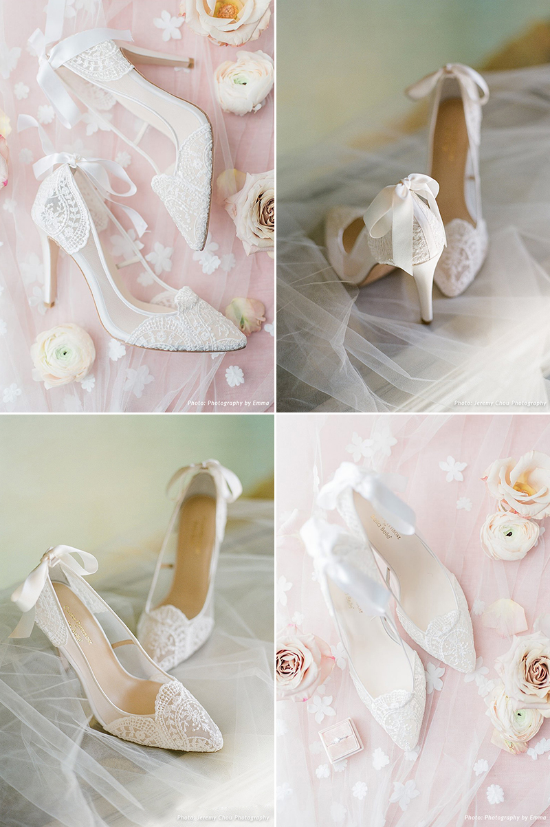 French Embroidery Ribbon Bow Pump