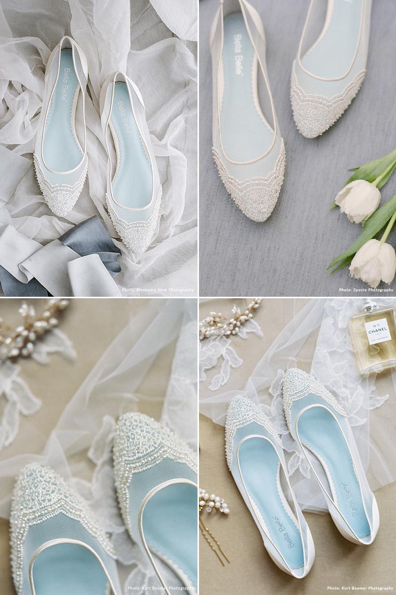 Pearl Beaded Ivory Wedding Flats
