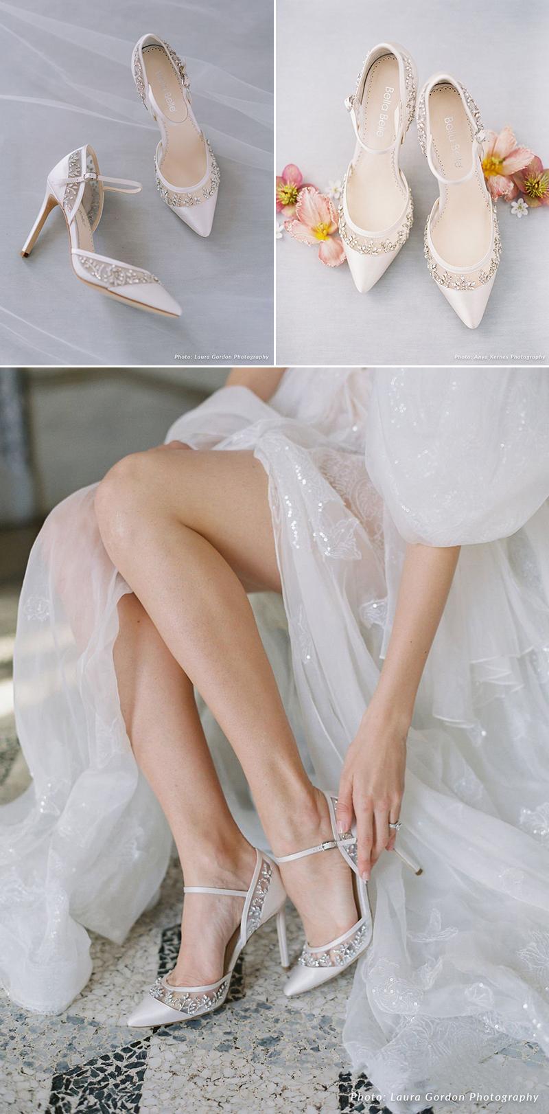 Crystal Embellished D'Orsay Heel
