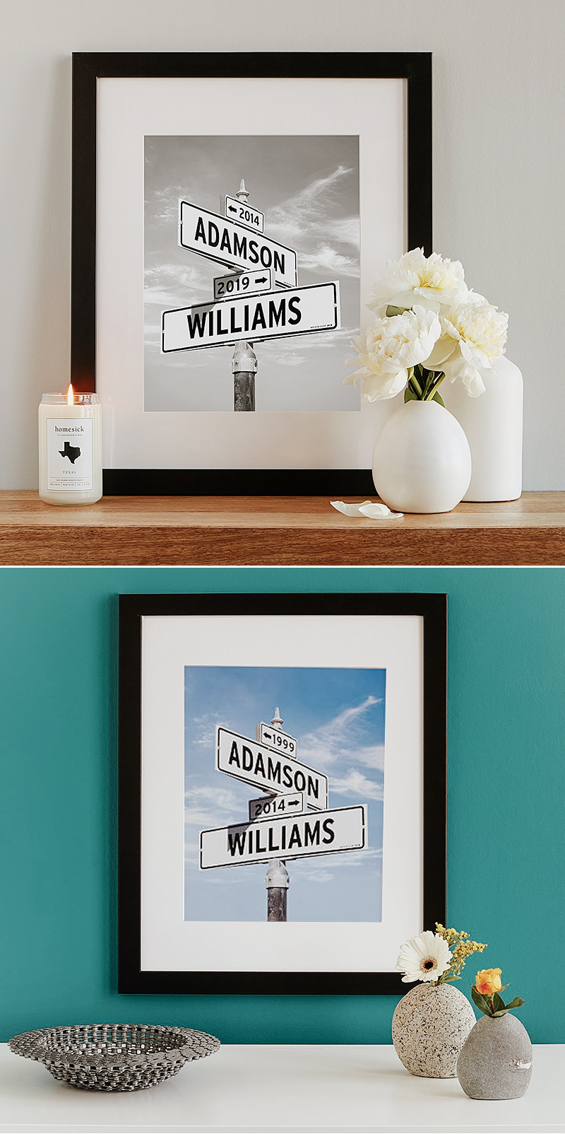 wedding gift idea intersection of love photo art