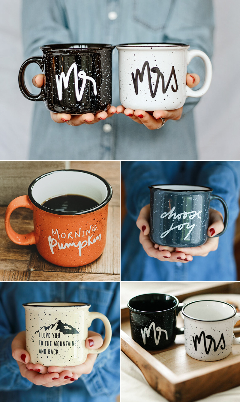 wedding gift idea campfire ceramic mug