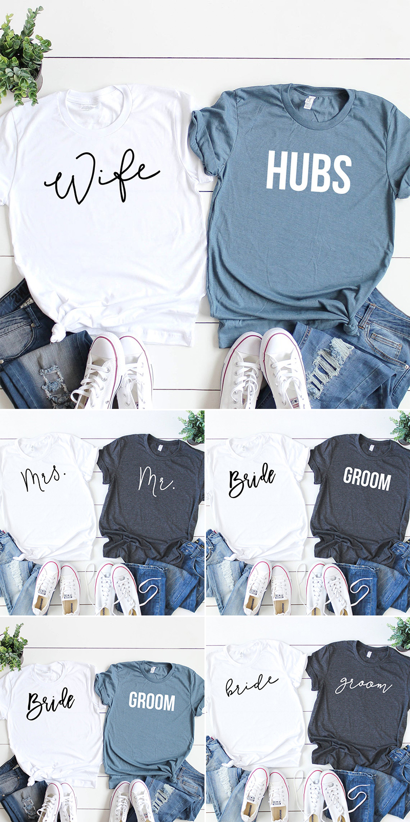 wedding gift idea couple tee tshirt