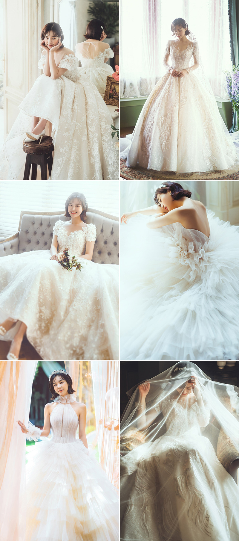modern romantic wedding dress