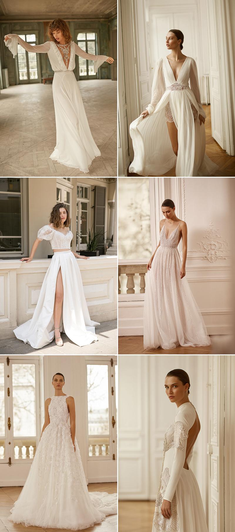 modern romantic classic wedding dress