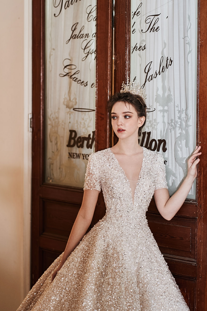 classic sparkly wedding dresses
