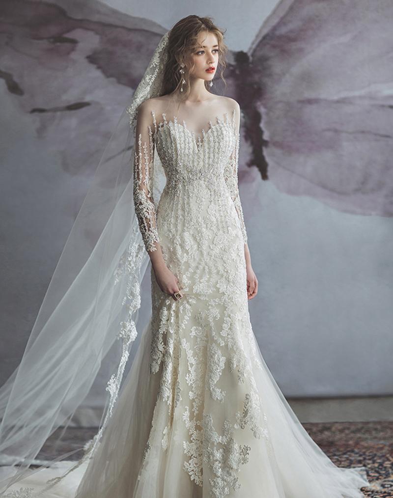 classic sparkly wedding dresses
