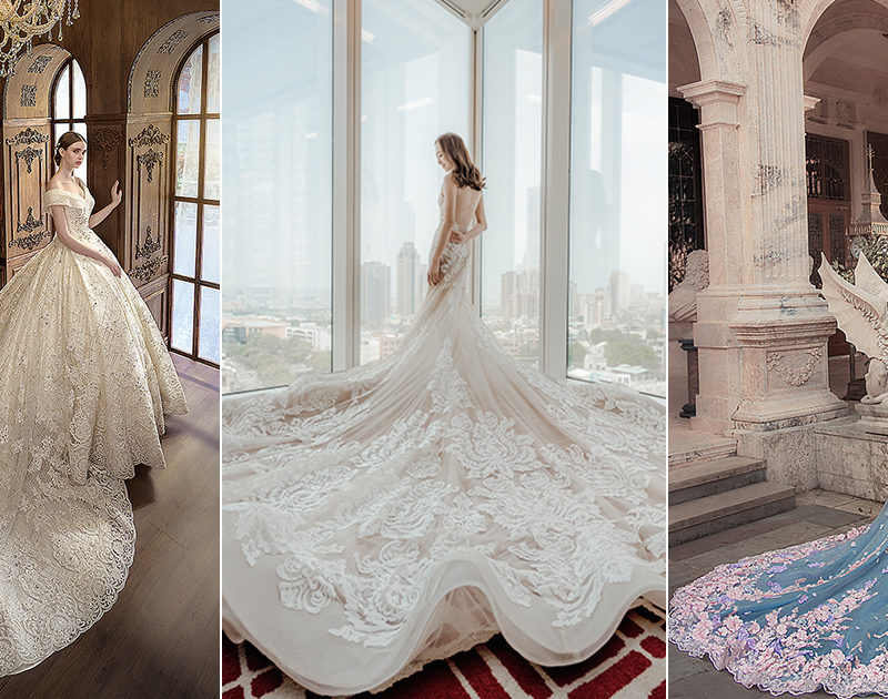 15 Wedding Dresses With Statement-Making Trains For Your Princess Moment