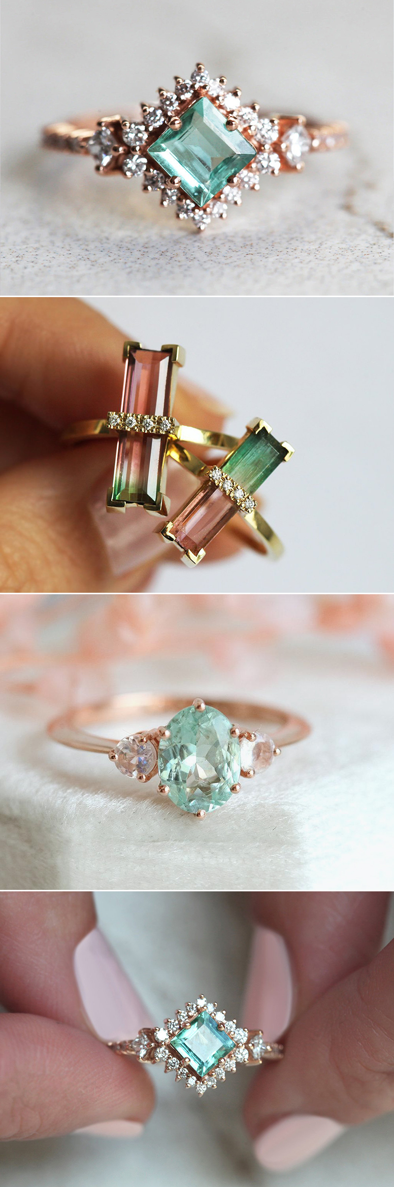colored stone gemstone engagement ring