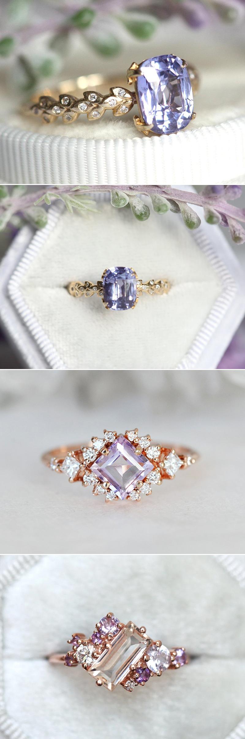 colored stone gemstone engagement ring