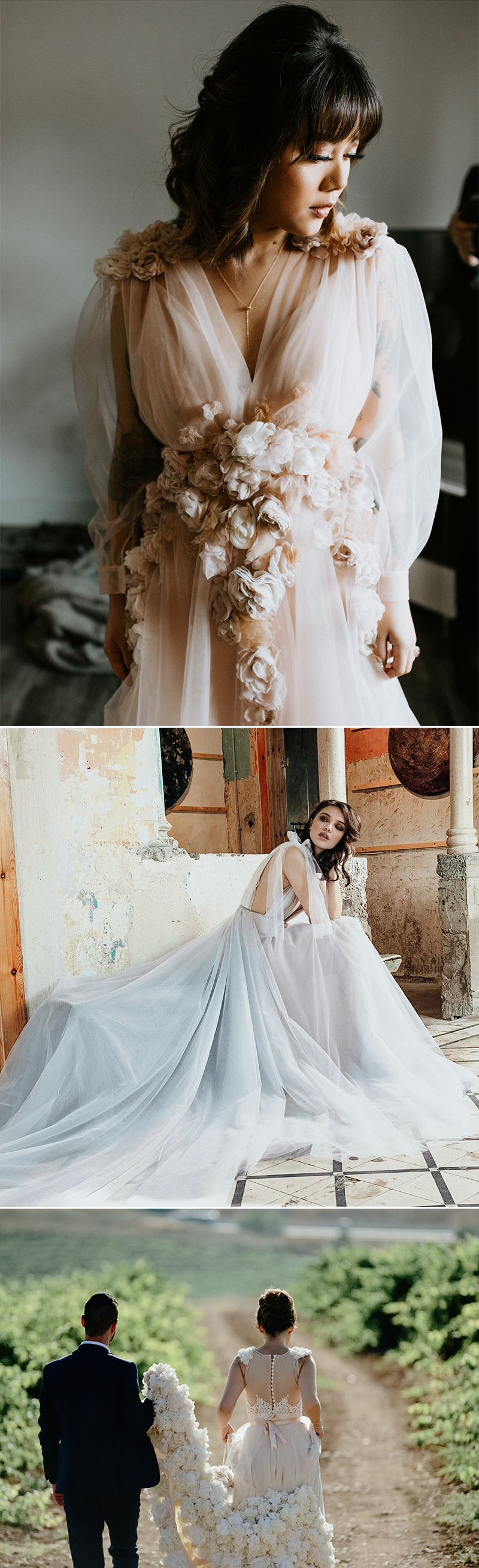 romantic handmade wedding dresses
