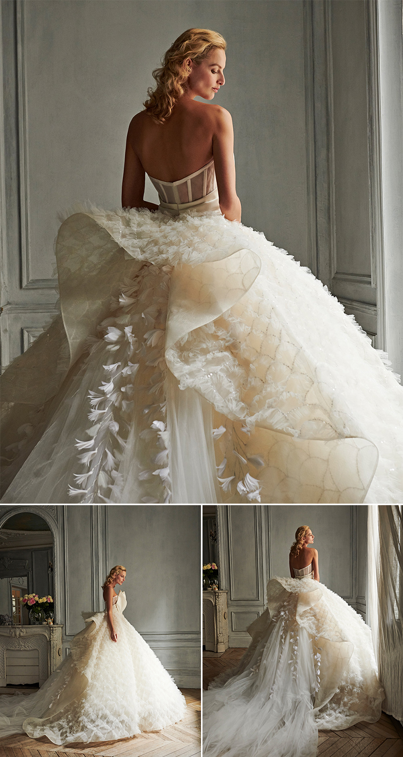 sparkly embellished wedding dresses