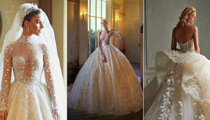 15 Sparkly Wedding Dresses Featuring Stunning Embellishment and Detailing