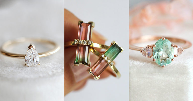 summer nature-inspired engagement rings