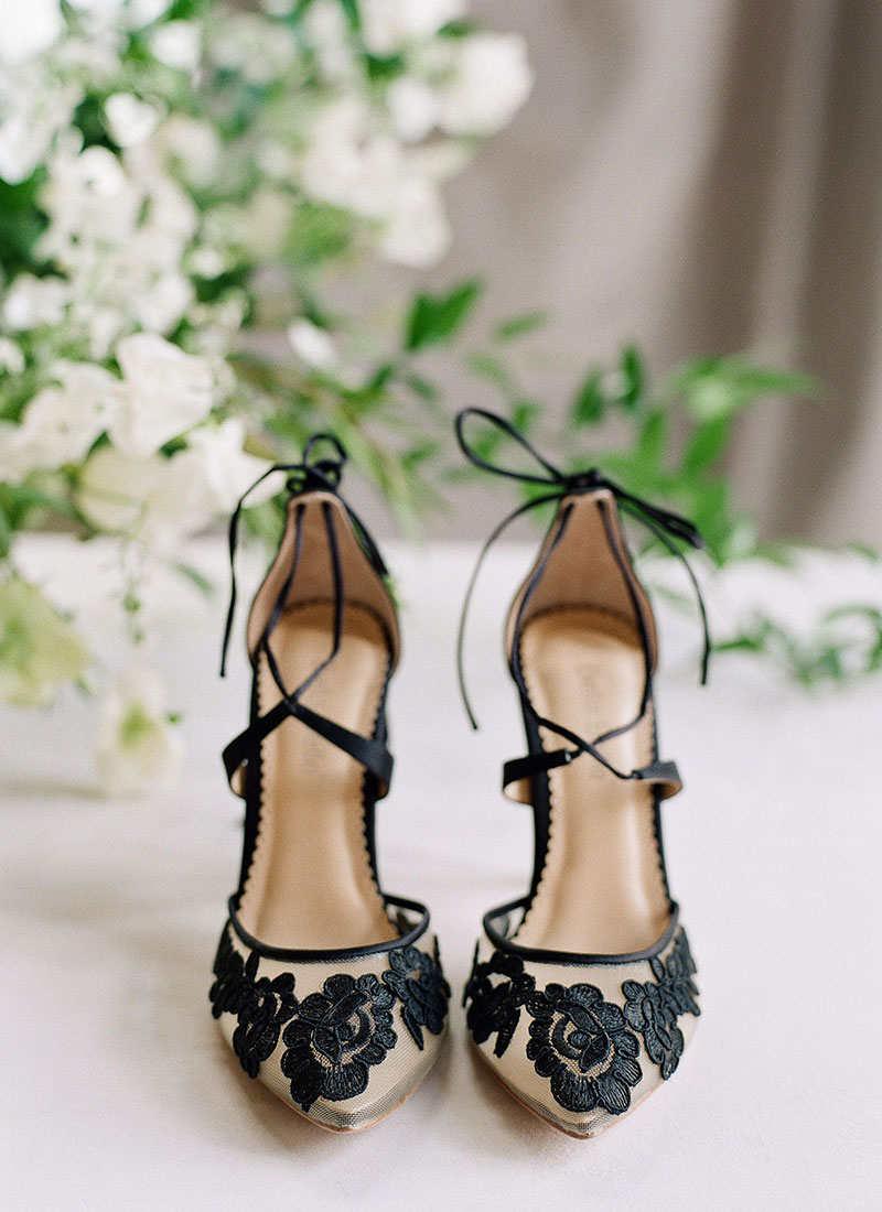 Anita Ankle Wrap Lace Wedding Shoes
