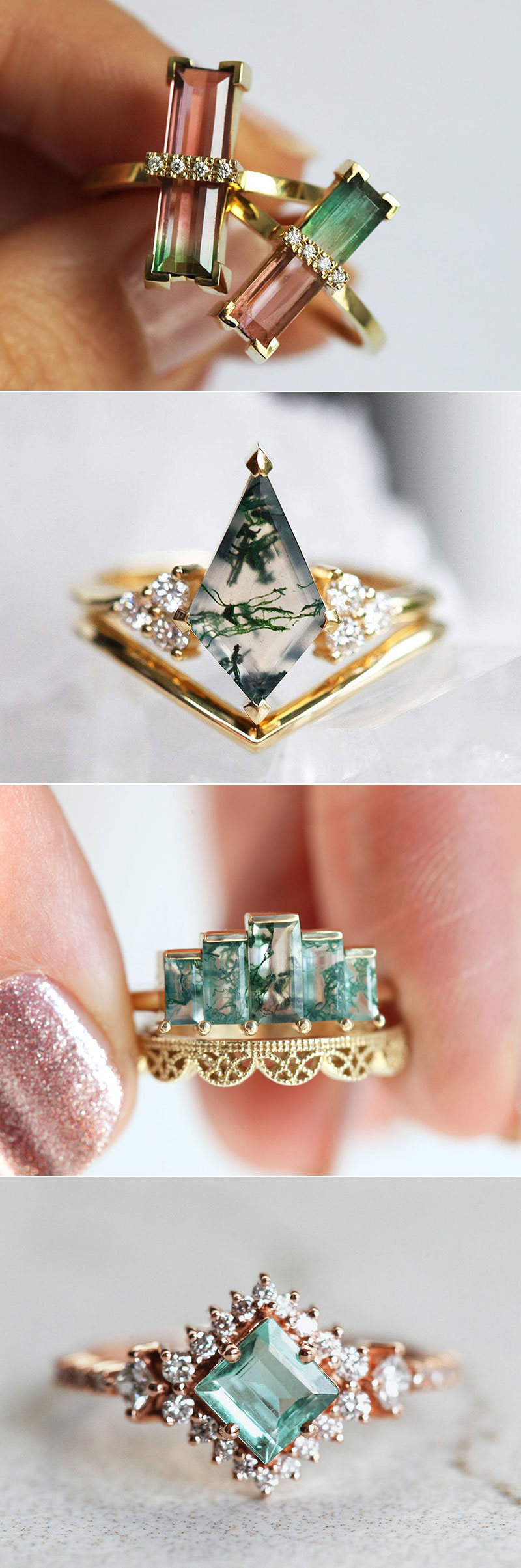 Nature-Inspired Green Stones