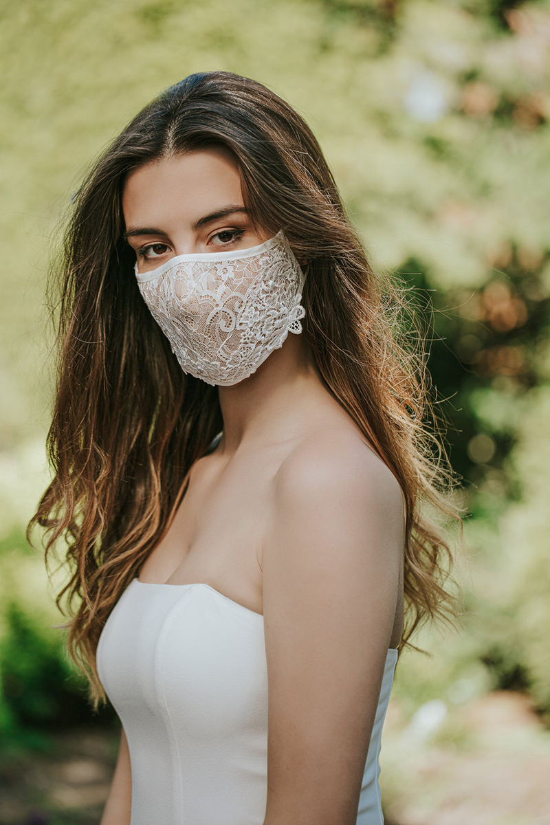 wedding bridal face mask