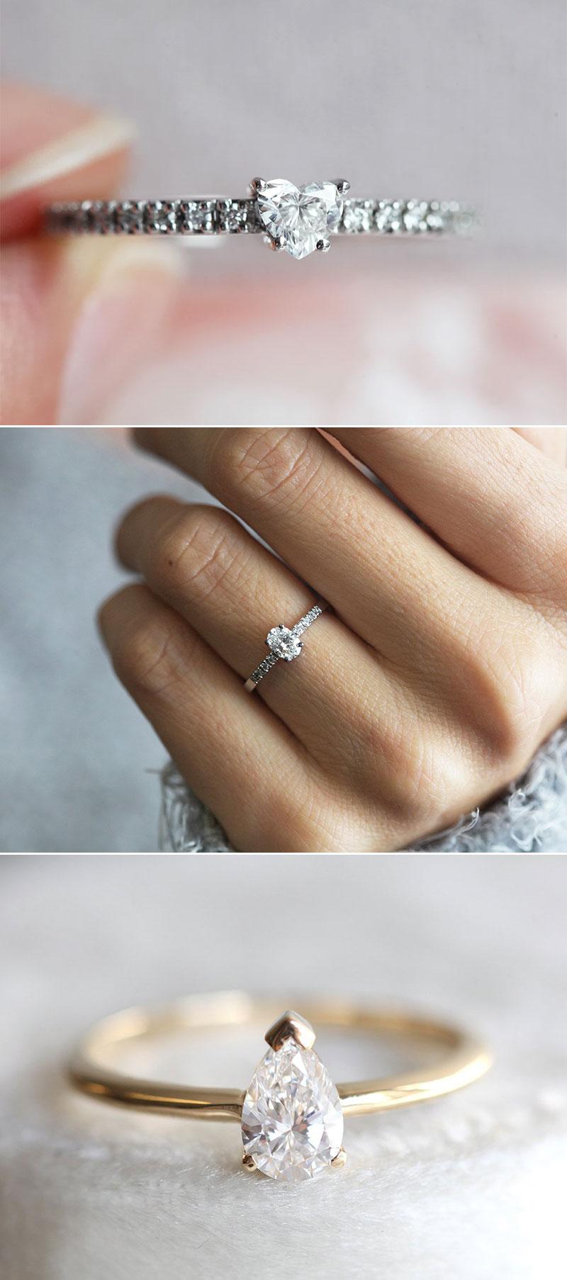 Dainty Petite Diamond Rings
