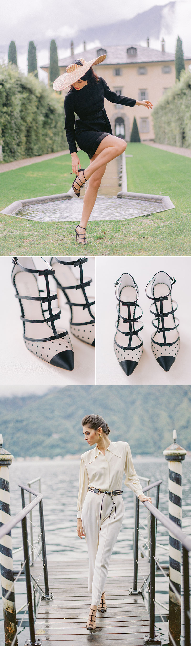 Rita Polka Dot And Ribbons Wedding Heel