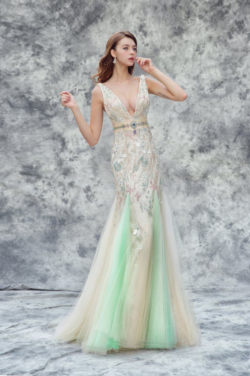 colored wedding dress gown