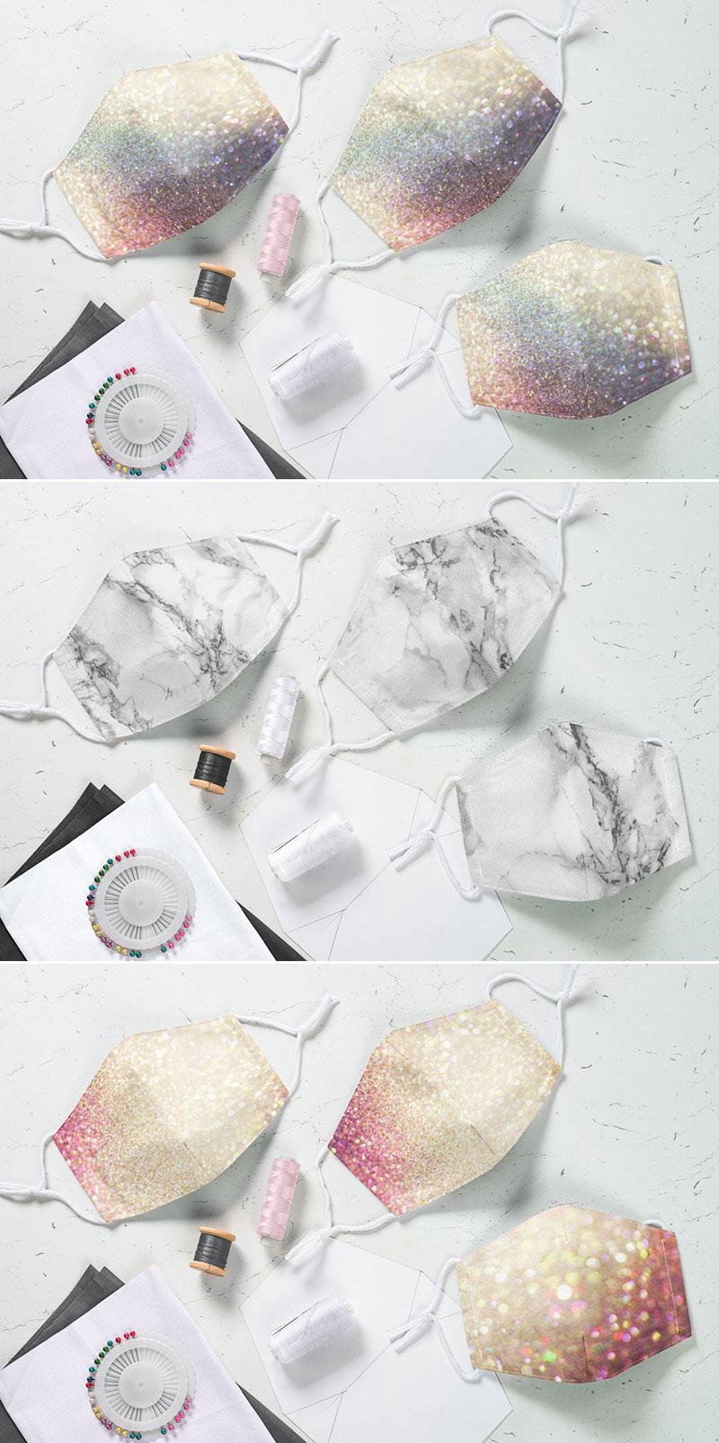 Wedding bridesmaid bridal party face mask