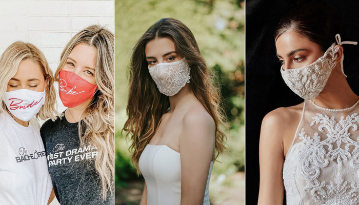 26 Fashionable Wedding-Worthy Face Masks for Brides, Grooms, Bridal Parties, and Guests