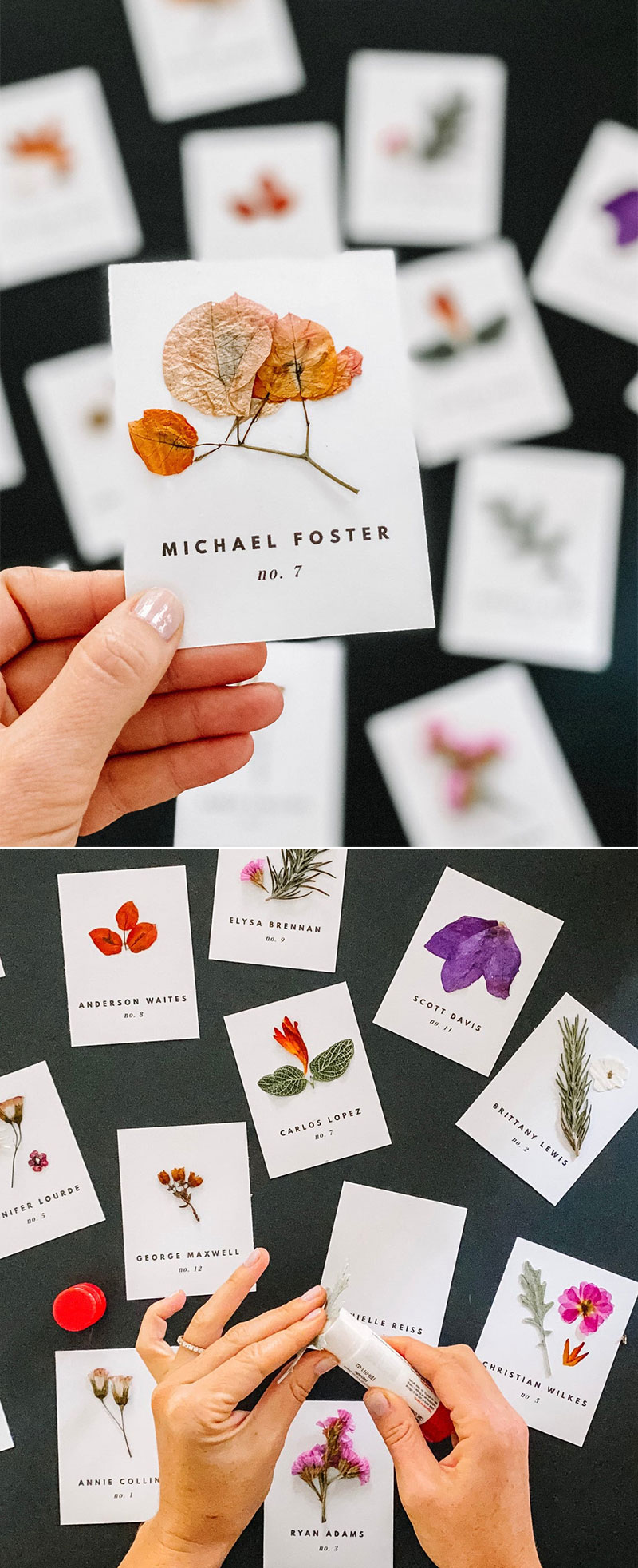 DIY Editable Escort Cards