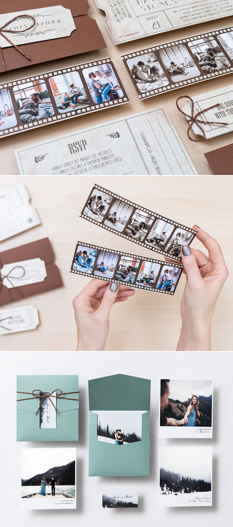 Personalized Vintage Film Invitations