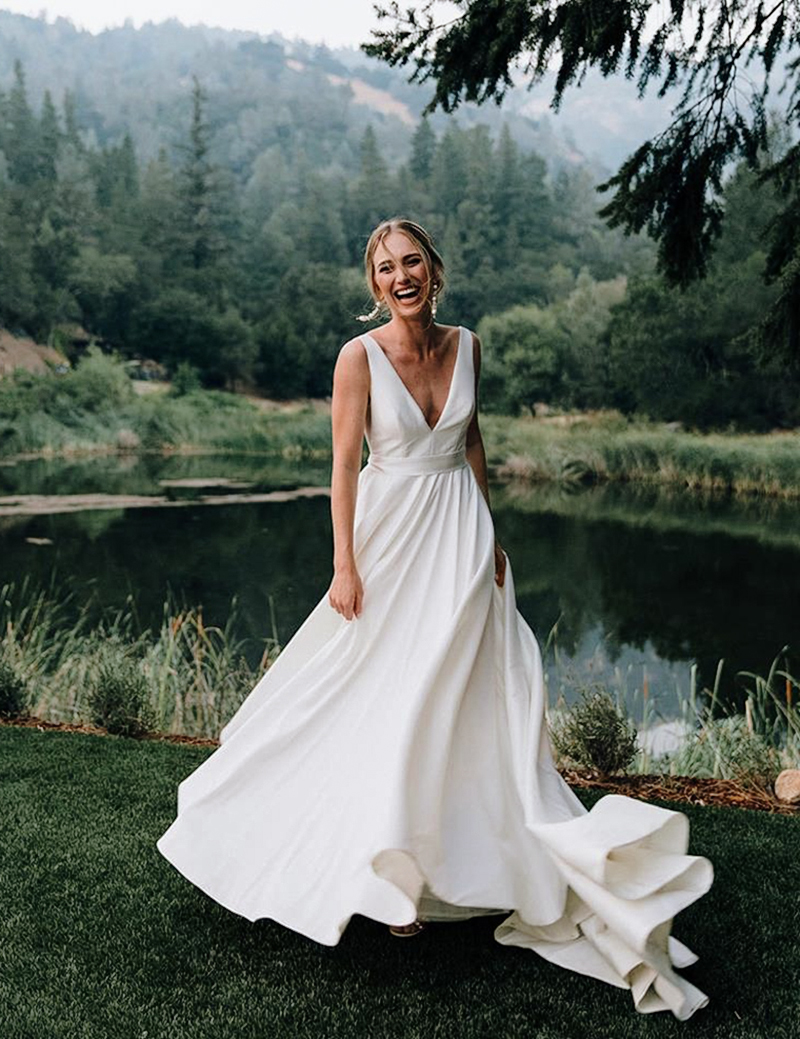 simple minimalist wedding dresses