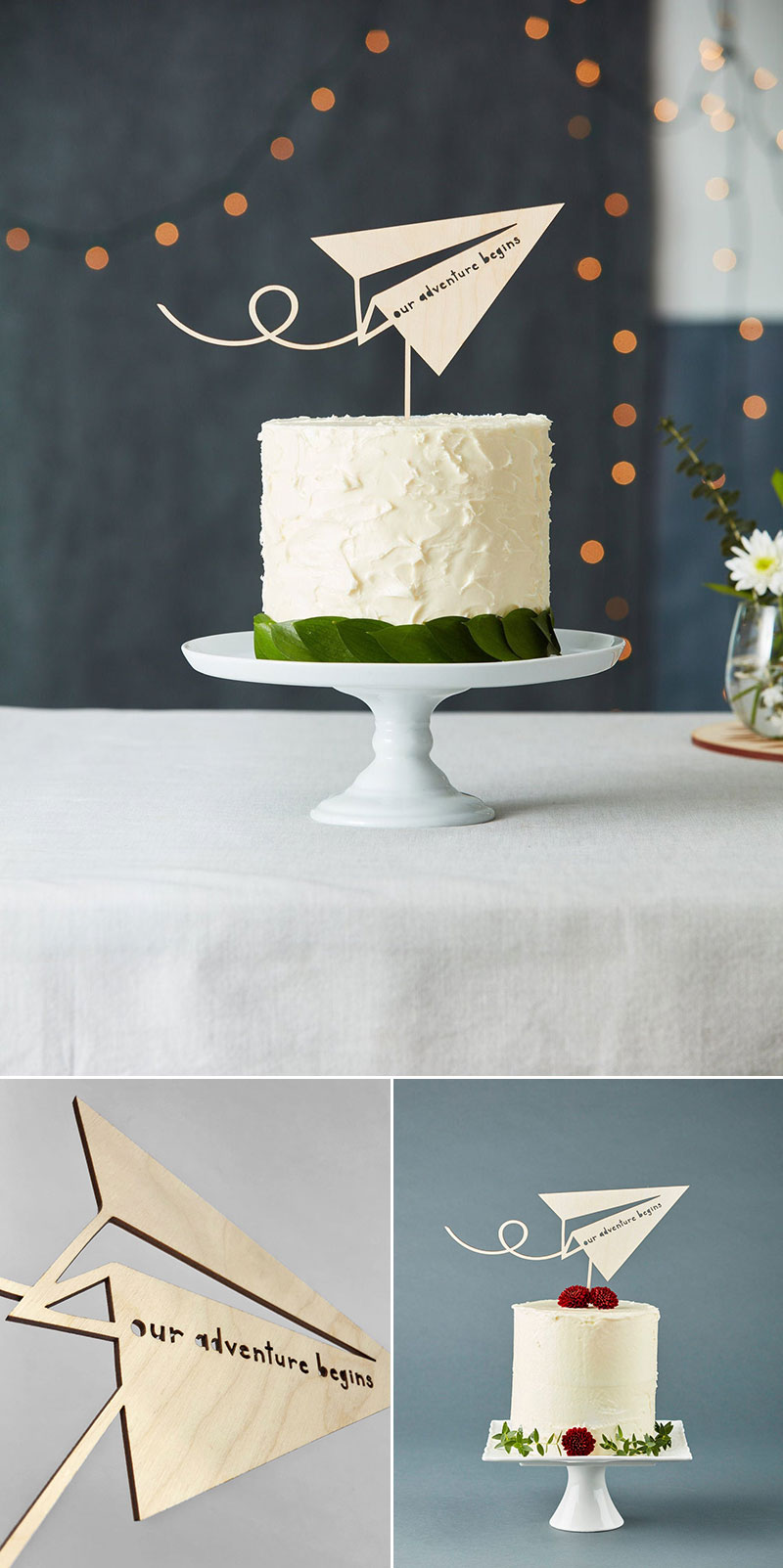 Paper Airplane Cake Topper