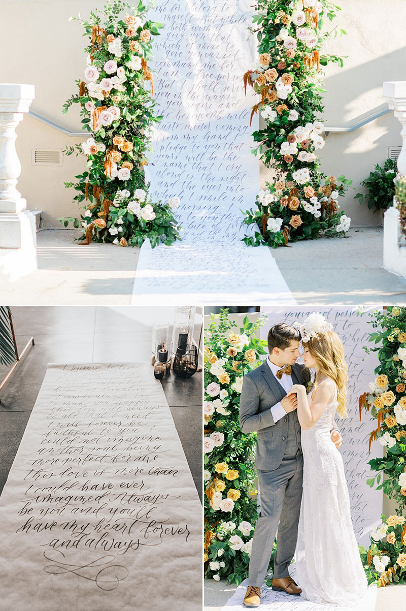 Custom Calligraphy Backdrop