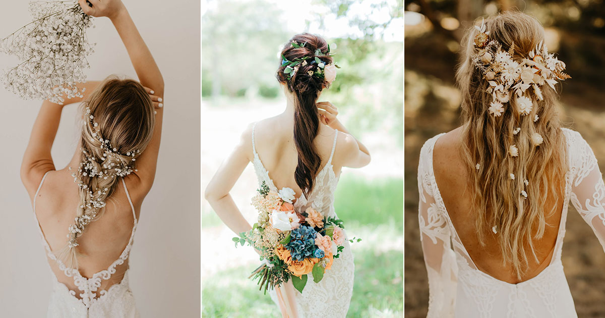 12 New Ways To Wear Your Hair Down For The Wedding Dazzling Natural Hairstyles For The Modern Bride Praise Wedding